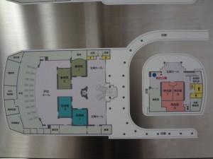 横須賀市立中央斎場1F見取り図